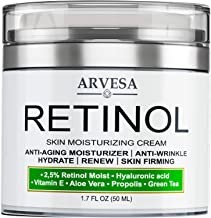 Anti Aging Retinol Moisturizer Cream for Face, Neck & Décolleté - Made in Usa - Wrinkle Cream for Women and Men with Hyalu...