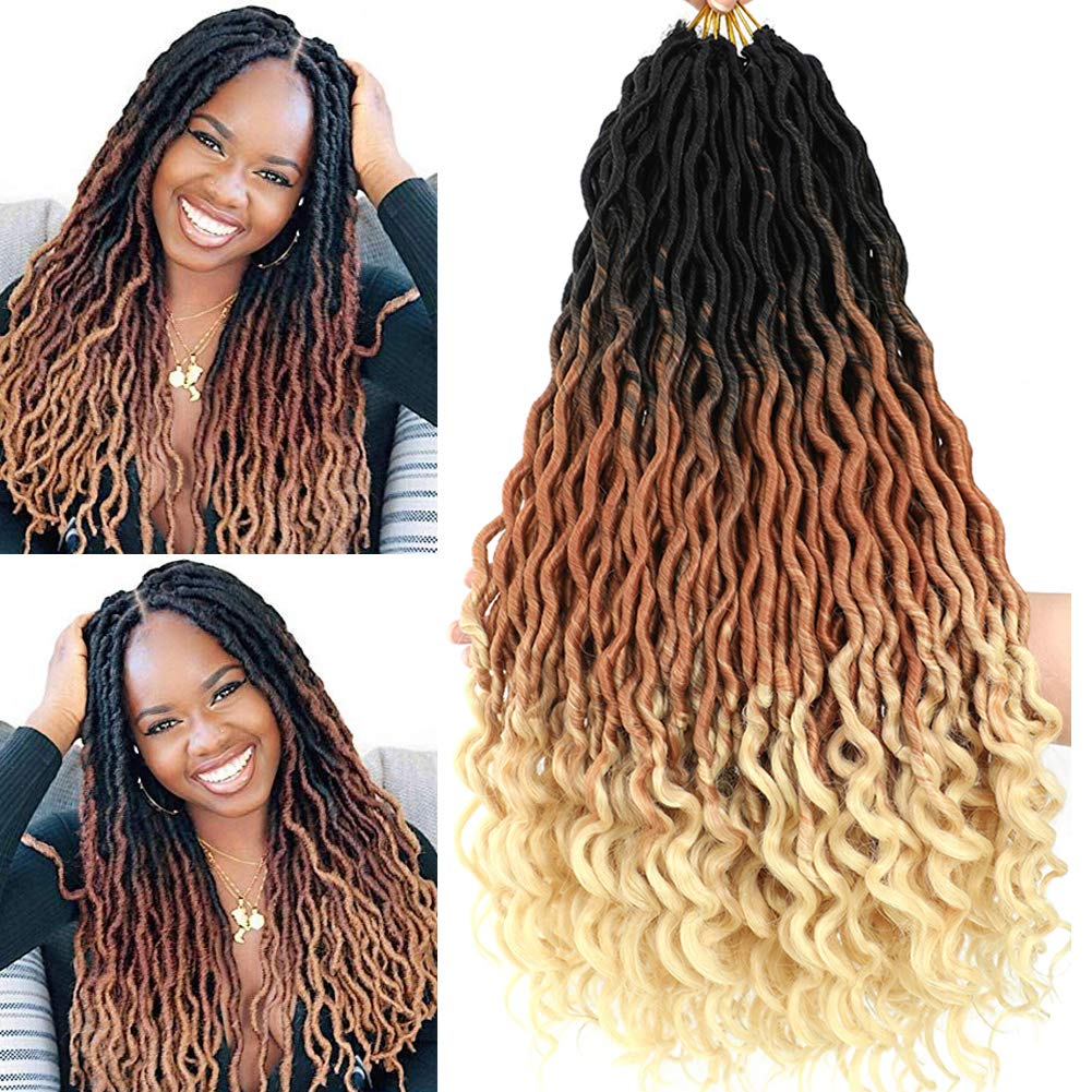 Ombre Wavy Faux Super beauty product restock quality top Locs Corchet Hair 90 5Packs with Lot Ends Curly Bombing new work