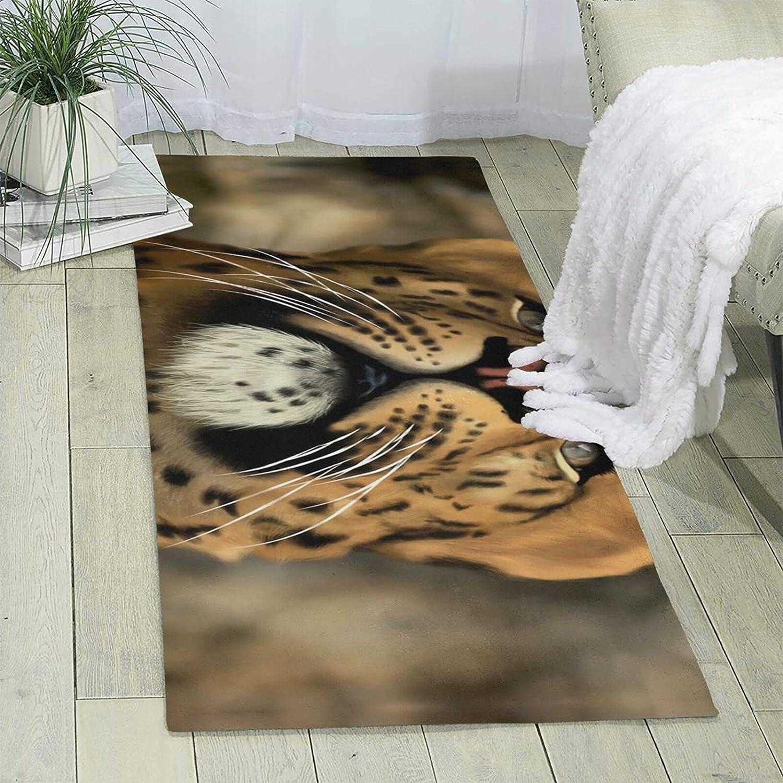 Tiger Single-Sided Print Area Rug Ultra Limited time sale Non-Slip San Antonio Mall Soft