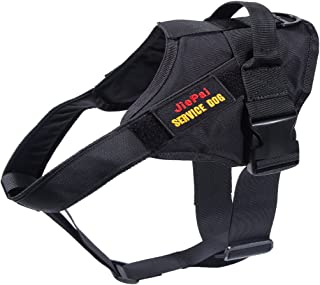 JIEPAI Tactical Dog Harness Military Training Patrol K9 Service Dog Vest Adjustable Working Dog Vest with Handle for Small Large Dogs