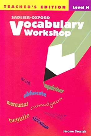 Sadlier-Oxford Vocabulary Workshop, Level E Annotated Teachers Edition: