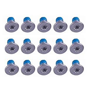 Onyehn 15pcs/Lot Silver M2x3mm Torx T5 Replacement Bottom Case Cover Screws Screwset for Dell XPS 13 9343 9350 9360, XPS 15 7590 9550 9560 Precision M5510 5520 Series Laptop