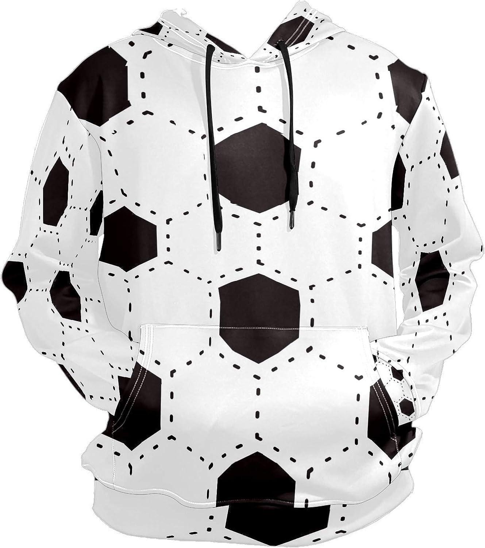 Men's Sport Hoodie Soccer Football Hexagon Big and Tall Hoodies for Men Women Oversized Hooded Sweatshirt Hip Hop Pullover Hoodie Midweight Hood for Boys Girls