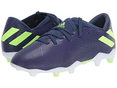 adidas Kids Nemeziz Messi 19.3 FG Soccer (Little Kid/Big Kid) (Tech Indigo/Signal Green/Glory Purple) Kid