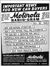 1940 Motorola: Radio Gram New Car Buyers, Motorola Print Ad