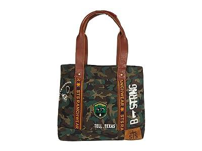 STS Ranchwear Camo Tote (Green/Brown) Handbags