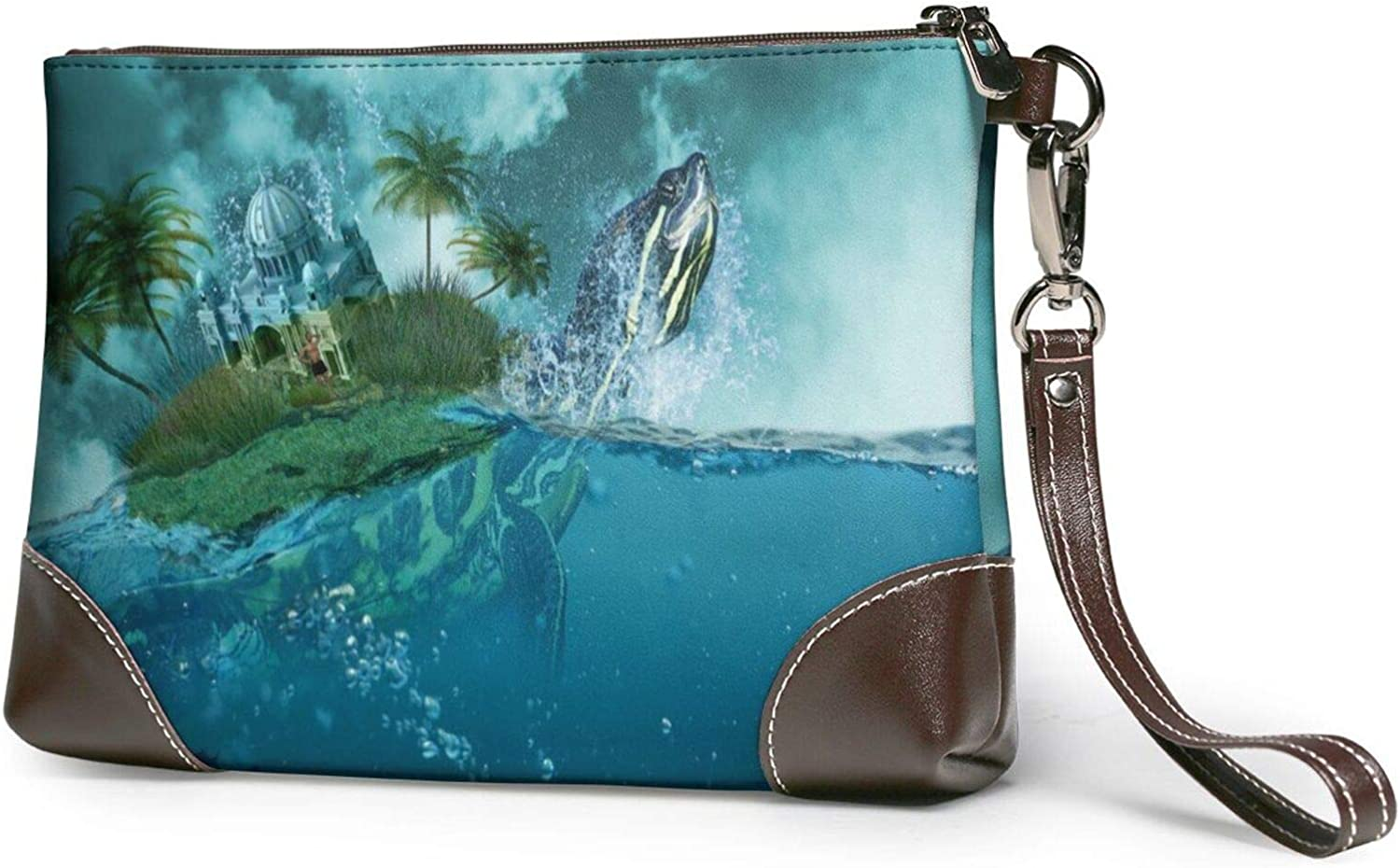 Imagine Sky And Sea Clutch Leather Wallet 2021new shipping free Purses Wristlet Now free shipping