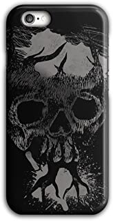 Tree Metal Creepy Skull Case for iPhone, 6 Plus / 6S Plus Scary Non-Slip Cover - Slim Fit, Comfortable Grip, Protective Case by Wellcoda