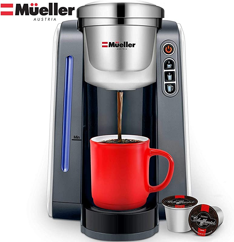 Mueller Ultima Single Serve Pod Compatible Coffee Maker Machine With 4 Brew Sizes For 1 0 And 2 0 Pods Rapid Brew Technology With Large Removable 48 Oz Water Tank