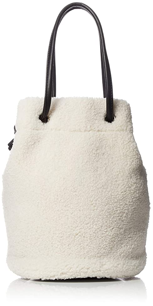 ハードリング伝染性ピックLaugoa(ラウゴア) ボア巾着トート ショルダー バッグ Ego オフホワイト 18526-11014200 オフホワイト 通勤 通学