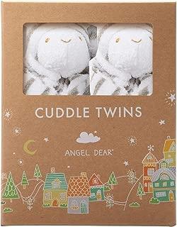 Angel Dear Cuddle Twin Set, Grey Zebra