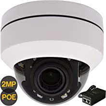 Nesuniq Full HD 1080p PTZ Outdoor POE+ Security IP Pan Tilt Zoom Camera with 4X Motorized Lens, 2MP CCTV Dome POE Camera for Ceiling Installation with POE Injector 98ft IR Night Vision-IPC-P18FW