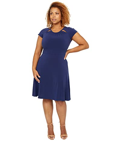 MICHAEL Michael Kors Solid Short Sleeve Fit-and-Flare Dress Women