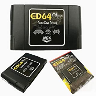 JVSISM ED64 Plus Game Save Device 8GB Card for N64 Game PAL/NTSC Multicart