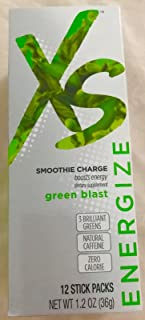 XS Smoothie Charge powder gives your smoothies a caffeine energy boost 12 Serv.