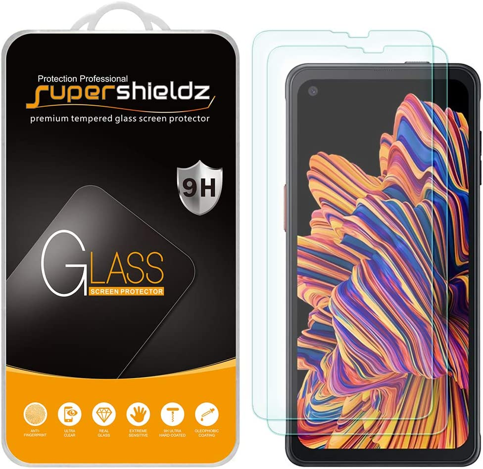 (2 Pack) Supershieldz Designed for Samsung Galaxy Xcover Pro Tempered Glass Screen Protector, Anti Scratch, Bubble Free