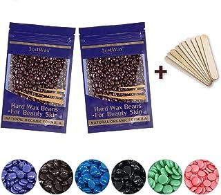 Wachsperlen Haarentfernung Wachs -Wachsbohnen -Wax Beans Hard -Waxing Perlen -Waxperlen -Warmwachs Perlen -Wax Beads -Hartwachs -Enthaarungswachs Niedrigtemperatur ohne Vliesstreife 200g Schokolade