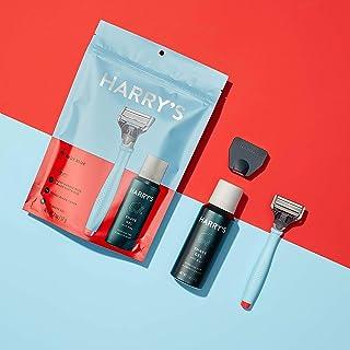 Harry's Starter Set: Buoy Blue Razor Handle with (1) 5-Blade Cartridge & (1) 2 Oz Shave Gel