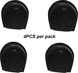 BroilPro Accessories Tire Cover Set of 4 Waterproof Sun Protectors for RV, Camper, Trailer, Truck Fits 27