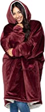 THE COMFY Original | Oversized Microfiber & Sherpa Wearable Blanket, Seen On Shark Tank, One Size Fits All Burgundy