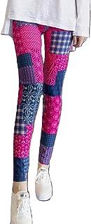 [MT's SHOP] レギンス レディース パンツ 柄物 9分丈 美脚 伸縮 ストレッチ素材 スキニー フリーサイズ FA228