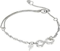 Sterling Silver Harry Potter Glasses Pull Chain Bracelet