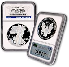 2007 W American Silver Eagle $1 PF70UCAM NGC Early Releases