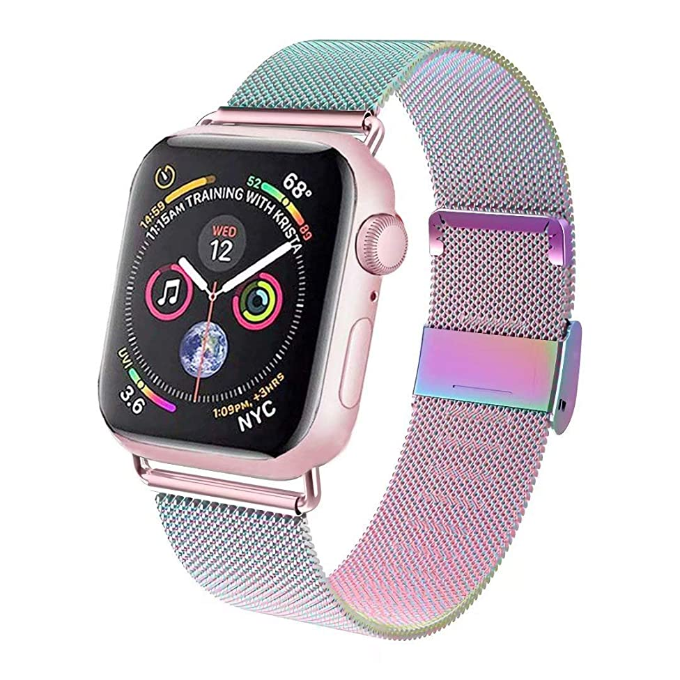 GBPOOT Compatible for Apple Watch Band 38mm 40mm 42mm 44mm, Wristband Loop Replacement Band Compatible Iwatch Series 4,Series 3,Series 2,Series 1
