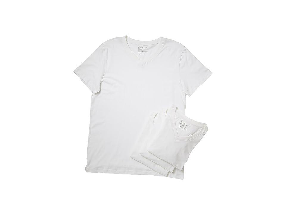 PACT V-Neck Undershirt 4-Pack (White) Men