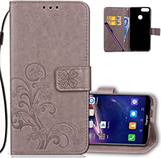 Huawei Honor 7X Wallet Case Leather COTDINFORCA Premium PU Embossed Design Magnetic Closure Protective Cover with Card Slots for Huawei Mate SE/Huawei Honor 7X.