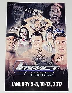 TNA AUTOGRAPHED 11x17 POSTER - Matt & Jeff Hardy, Eli Drake, Eddie Edwards, EC3, Autographed Wrestling Photos