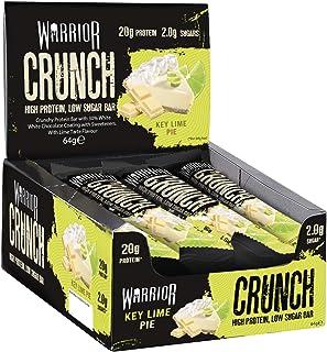 Warrior Crunch - High Protein Bars - 20g Protein in Each bar - Key Lime Pie - 12 x 64g   Warrior Supplements