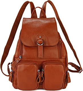 Casual Women Real Genuine Leather Backpack New Vintage Style Travel Bag