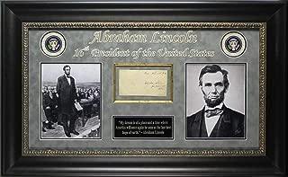 Abraham Lincoln Signed & Framed 1847-1849 Handwritten Free Frank Graded 9! BAS - Beckett Authentication