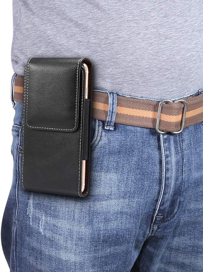 Universal Leather Belt Case for Samsung Galaxy Note20,s20+,s20 Ultra,Note10 Lite,Note 10+, Leather Pouch Holster for Galaxy S10+,S9+,S8+,A21s,A71 5G,A50S,A60,M30S,A20,A30,A42 5G,M51 Protective Cover