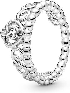 Pandora Women's Sterling Silver Cubic Zirconia 925 Silver Ring, 56 EU - 190880CZ-56