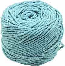 Blue Macrame Cord Colorful Natural Cotton Macrame Cord Wall Hanging Plant Hanger Craft Making Knitting Cord Rope 3mm (3mm Lake Blue)