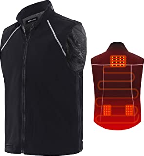 Vinmori Electric Heated Vest Washable Size Adjustable Fleece Soft Texture USB Heated Clothing for Motorcycle Snowmobile Bike Riding Hunting Golf (Battery Not Included)