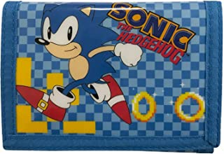 Sonic The Hedgehog Card and Coin Tri-Fold Wallet