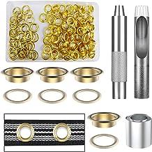 Mengger doorvoertule Metalen oogjes Dekzeilreparatieset met 100 set 2/5 doorvoertules 3 stuks Gateninstelling Bevestigings...
