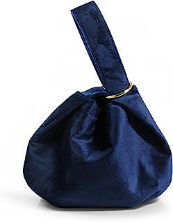Damen Clutch, Samt, Griff oben, Tasche, Handgelenk, kleine Handtasche