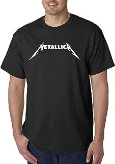 925 - Unisex T-Shirt Metallica Metal Rock Band Logo 4XL Black
