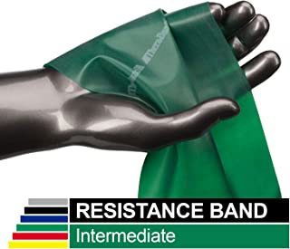 TheraBand Professional Latex Resistance Bands, Individual 6 Ft Elastic Band for Upper & Lower Body Exercise, Physical Therapy, Pilates, at-Home Workouts, 6 Foot, Green, Heavy, Intermediate Level 1