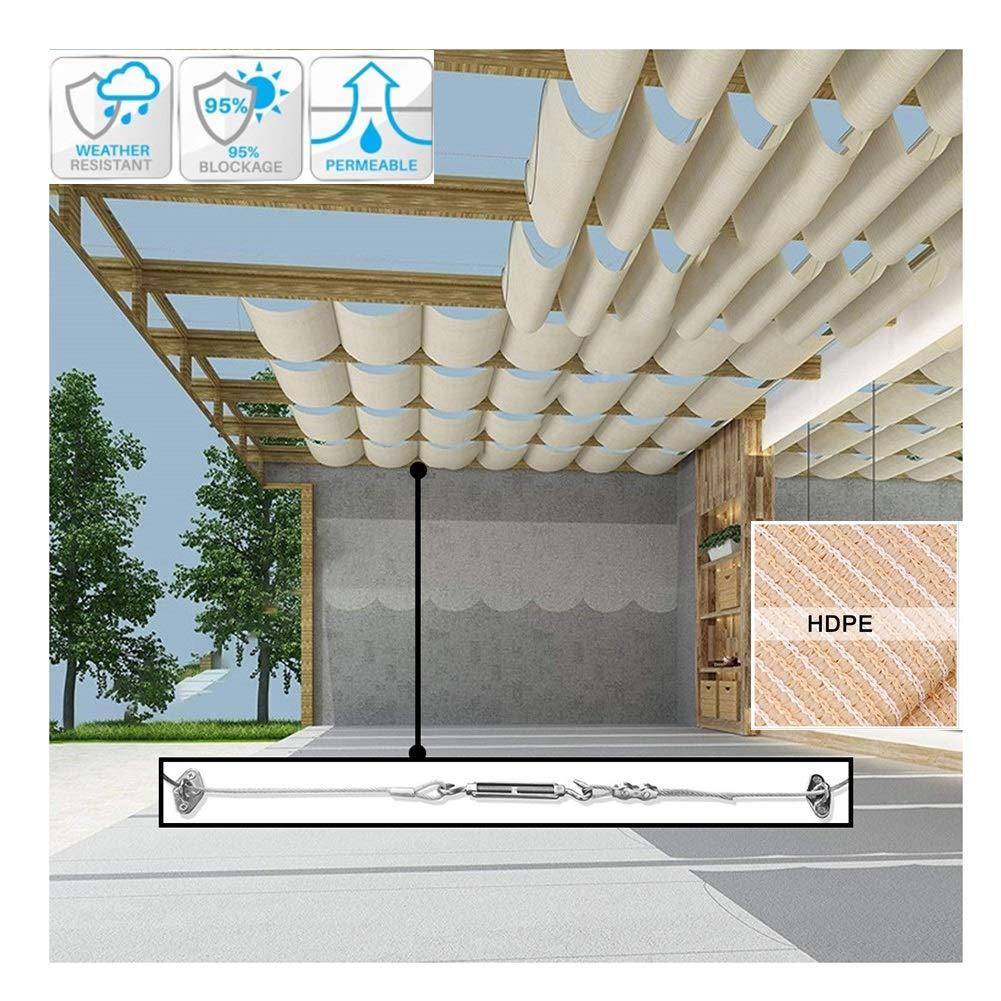 LJIANW Vela de Sombra Toldo Vela, Velas Wave Shade Ajustable Tela De Protección Solar Cubierta Cortina Decorativa Sombra Actualización 2020 for Balcón Cubierta, 55 Tamaños: Amazon.es: Hogar
