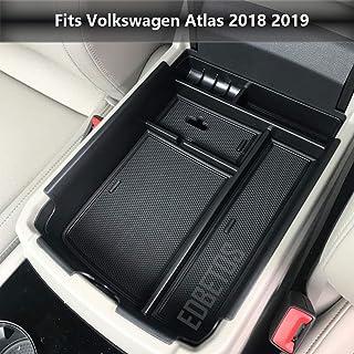 EDBETOS Armrest Center Console Tray Organizer Compatible with VW Volkswagen Atlas 2018 2019 Secondary Storage Box Divider ...