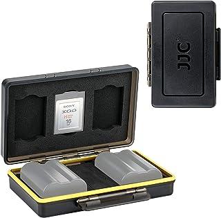 JJC 多機能 電池ケース バッテリーボックス カードケース Canon LP-E17 Fujifilm NP-W126 Sony NP-FW50 Nikon EN-EL15 など電池 2枚 XQD カード 3枚 適用 キャノン EOS RP ...
