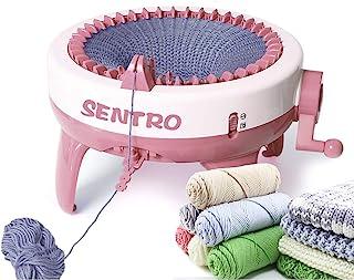 Machine à tricoter, 40 aiguilles à tisser intelligent Machines à tricoter rondes, planche à tricoter double métier à trico...