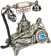 $45 » Antique Telephone, MS-83070C Bronze European Style Antique Caller ID Digital Vintage Telephone Old Antique Phone Home Deco...