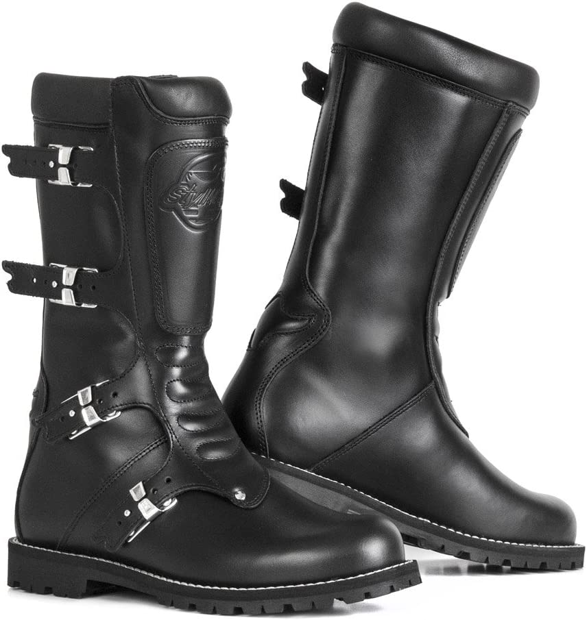 Stylmartin Unisex-Adult Vintage Touring Motorcycle Boots Black, Size 39