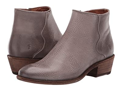 Frye Carson Piping Bootie (Graphite Waxed Veg Tan) Women